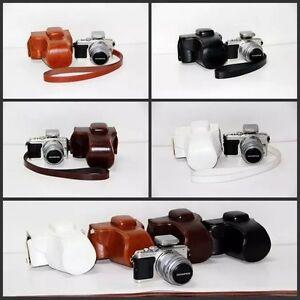 Leather Camera Case Cover Bag For OLYMPUS Pen E-PL6 E-PL5 EPL5 EPL6 E-PM2 EPM2