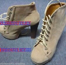 Unbranded Leather Platform & Wedge Lace Up Shoes for Women