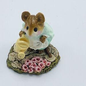 Wee Forest Folk Miniature Figurine Spring Gardener M 111 Green Dress