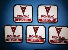 5 Lot Vintage 1980's Pontiac Service Car Club Hipster Jacket Hat Patches Crests