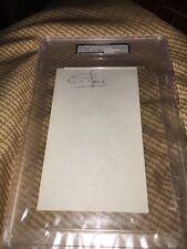 Al Davis Oakland Raiders HOFer Signed 3x6 index Card PSA DNA
