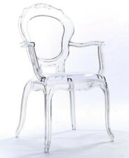 NICHES V2 Ghost Arm Clear Transparent Plastic Dressing Dining Bedroom Chair