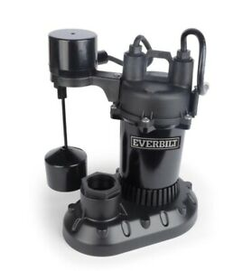 Everbilt Sump Pump HDPS25V Submersible 1/4 HP 33 GPM Vertical Float Switch