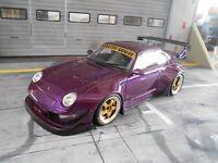 PORSCHE 911 993 RSR Widebody RWB Rauh Welt violett GT Spirit NEU NEW 1:18