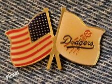 1991 LA Dodgers Pin~Los Angeles~MLB~Baseball~American Flag by C.P. & D.