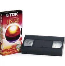 TDK HS240 4 Hours High Quality VHS PAL Secam Video Cassette Tape BRAND NEW