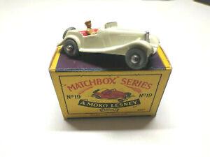 Matchbox MG TD Sports Car RW 1-75 Nr 19 A in mint in OVP BOX SUPER SELTEN!!!