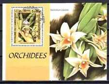 Fleurs - Orchidées Cambodge (112) bloc oblitéré