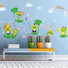 Cartoon Happy Frog Wall Sticker Bedroom Home Decoration Mural Nursery Stickersfo
