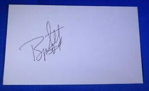 BYRON SCOTT autograph auto signed 3x5  Los Angeles Lakers Pacers Nets Cavs +