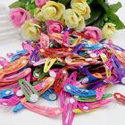 50 Pcs Girls Baby Kids Princess Hair Accessories Slides Snap Hair BB Clips Slid