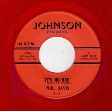 POPCORN/R & B-PHIL DAVIS-JOHNSON 117-IT'S NO USE/MY TIME