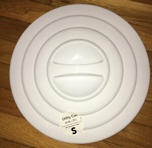 """Sterilite 24 Qt. Utility Can Round Replacement LID WHITE 13 1/4"""""""