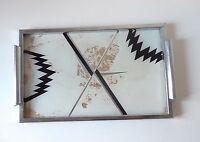 plateau apéritif Tablett miroir années 30 moderniste ART DECO Bauhaus