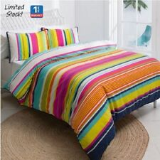 Unbranded Striped with Three-Piece Items in Set Quilt Covers
