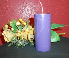 One, Eight Oz. Black Raspberry Vanilla type Scented Soy Refill Pillar Candle,