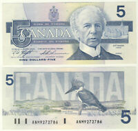 1986 Canada 5 Dollar Bank Note-Knight/Thiessen-UNC Cond 21-125