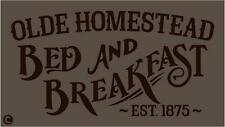 Primitive Stencil, Olde Homestead Bed And Breakfast Vintage Advertising Country