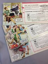 3 1950 TRUCK AWAY Advertising Ink Blotter PONTIAC MICHIGAN Vintage Original