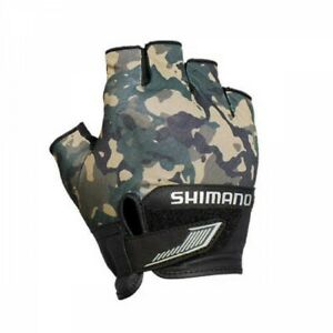 SHIMANO GL-022S Fishing Glove 3D Advance Beige Weed Camo Japan with Tracking
