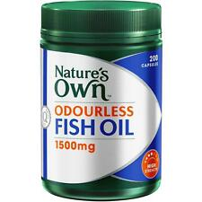 Natures Own Fish Oil 1500mg Odourless 200 Capsules (Nature's Own)