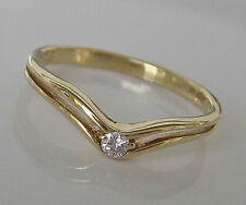 ✨ Lovely ✨  Solitär Brillant Ring in aus 585 14kt Gold mit Diamant with Diamond