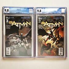 Lot of 2 BATMAN #1 & #2 both CGC 9.8 2011 The New 52! DC Comics 1st PRINT Cobb