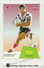 2003 Select NRL Scanlens Trading Card Retro #28:Craig Wing (Roosters)