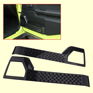 Pair Carbon Fiber Style Door Anti-Kick Cover Pad fit for Suzuki Jimny 2019-2020