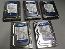 "Lot Of 5 WD Blue 160GB Internal 7200RPM 3.5"" (WD1600AAJS-98PSA0) HDD's"