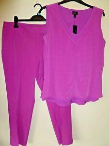 2 Piece Cropped Trouser & Top Size XL / 16 Stretch Worthington JC Penney BNWT