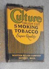 old Culture upright pocket  tobacco box