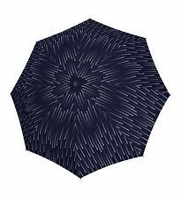doppler Fiber Magic Glamour Regenschirm Accessoire Dark Blue Blau Weiß Neu