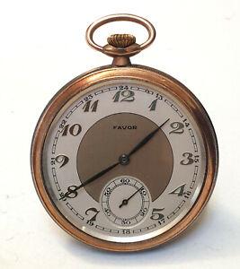 FAVOR Taschenuhr, 800er Silber Gehäuse, 30er,Art Deco,50,5 mm Ø, pocket watch