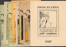Tintin en Peril/8 fac-similés de couvertures du Petit Vingtième - Rombaldi RARE!