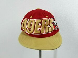 S.F. 49ers Throwback Hat Vintage Mitchell And Ness Size 7 1/8 Fitted