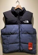 New! $179 The North Face TNF Men's Lrg Novelty Nuptse Urban Navy Multi Down Vest