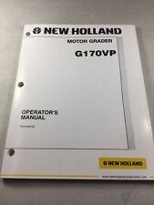 New Holland G170VP Motor Grader Operators Manual