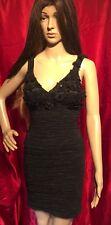 Signora Pink Boom Paris Mini abito Nero Sexy Elastan Taglia S
