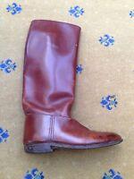 John Lobb Bespoke Mens Brown Leather Tall Boots UK 9 10 US 10 11 EU 43 44 Riding