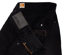 Hugo Boss Orange New Condition Black Trash Regular Fit Designer Jeans 32W 32L
