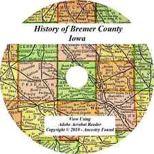 1918 History & Genealogy of BREMER COUNTY IOWA Waverly Sumner Tripoli Denver IA