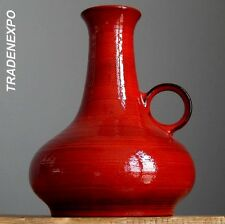 Vintage 60-70's STEULER KERAMIK 659 Red Vase West German Pottery Fat Lava Era