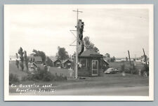 Rio Bungalow Court REPENTIGNY Quebec RPPC Roadside Neon Sign Photo CPA 1940s