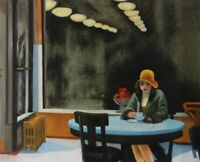 Edward Hopper Automat Oil Painting Reproduction Hand-Painted on Canvas 30x40