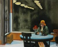 Edward Hopper Automat Oil Painting Reproduction Hand-Painted on Canvas 24x30 in
