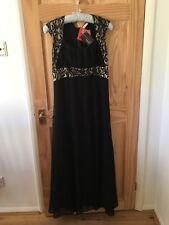 Kaleidoscope Black Party Evening Dress Sequins UK 12 Long Christmas New Tags