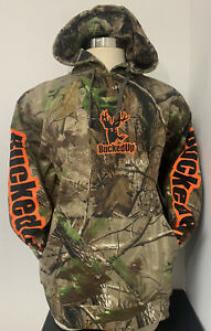 Realtree BuckedUp Men's Camo Hoodie/Orange (X-Large) NEW WITH TAGS! FAST!