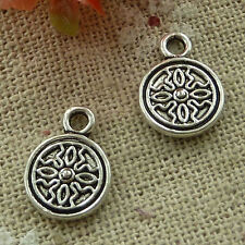 free ship 240 pieces tibetan silver flower charms 14x10mm #2943
