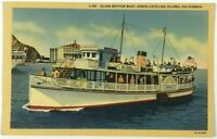Phoenix Glass Bottom Boat Santa Catalina Island California CA Vintage Postcard